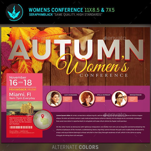 Autumn Women's Conference Flyer Template