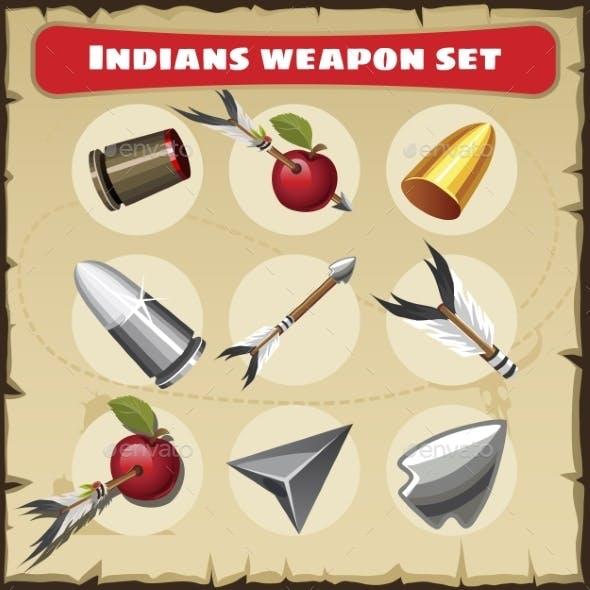 Indians Traditional Weapon Set