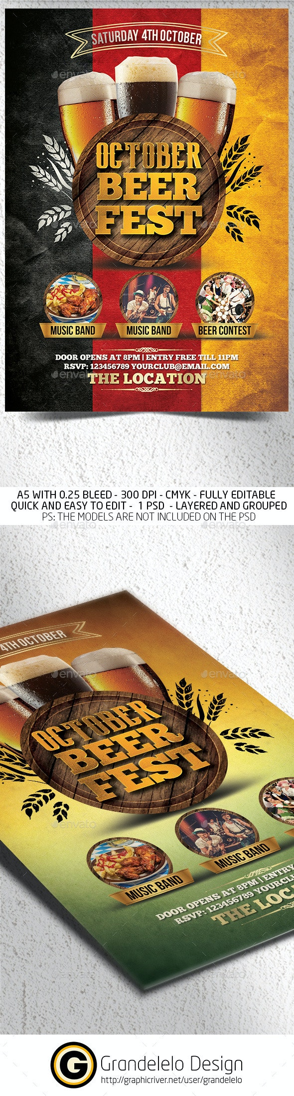 Beer Fest Flyer Template - Clubs & Parties Events