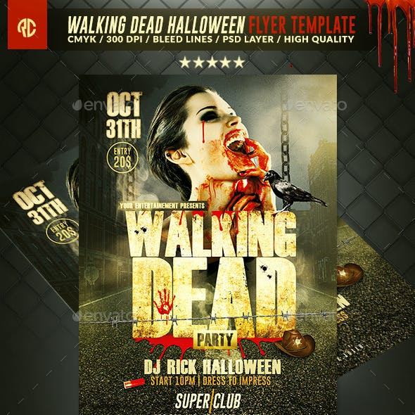 Walking Dead Halloween | Flyer Template