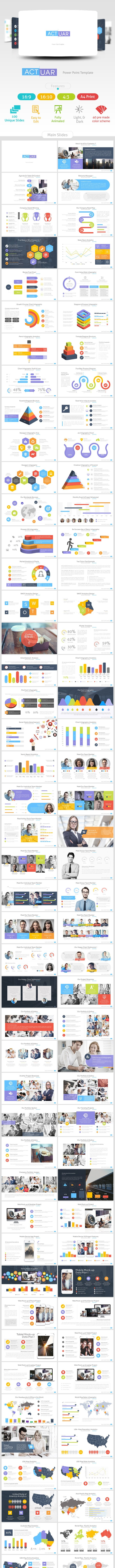 Actuar Power Point Presentation Template - Business PowerPoint Templates