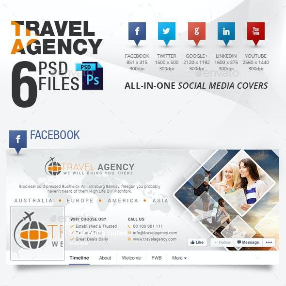 5 Social Media Cover Package for Travel Agency