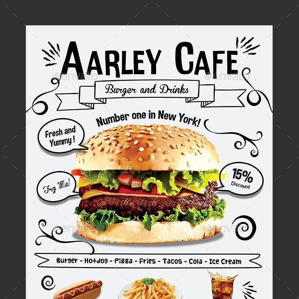 Doodle Cafe Menu + Business Card