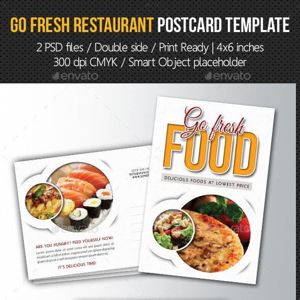 Go Fresh Food Postcard Template