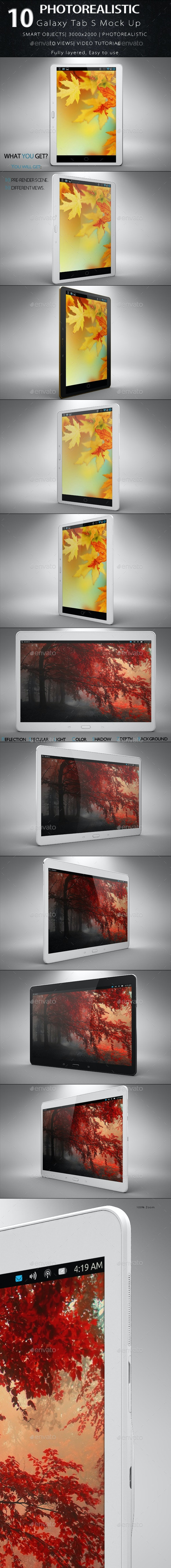 Galaxy S Tab Mock Up  - Mobile Displays