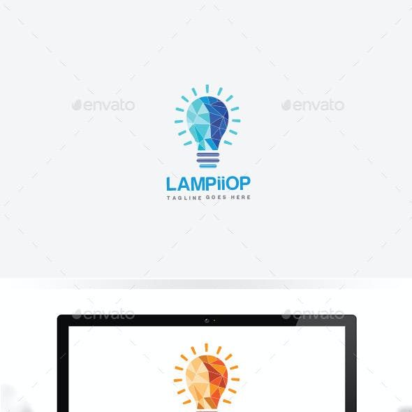Lampiiop / Lights / Brain / Startup Ideas Logo Templates