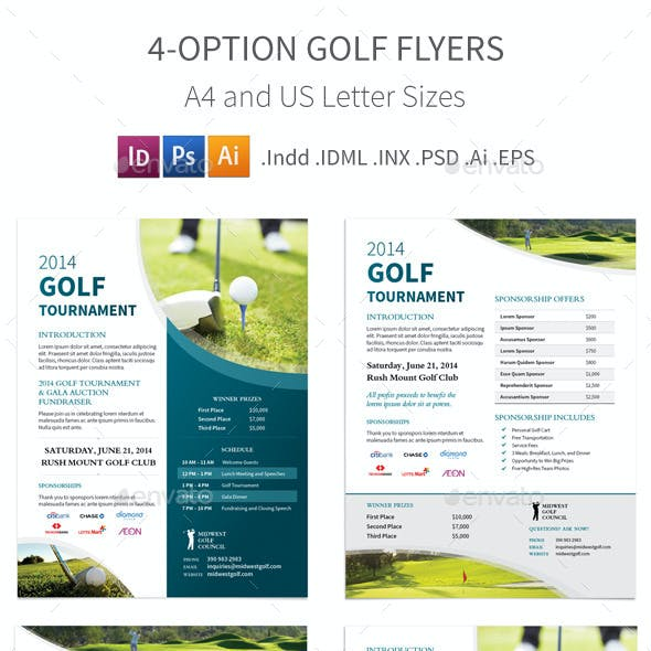 Golf Tournament Flyers – 4 Options