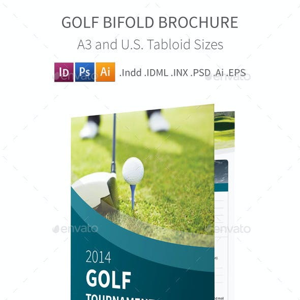 Golf Tournament Bifold / Halffold Brochure