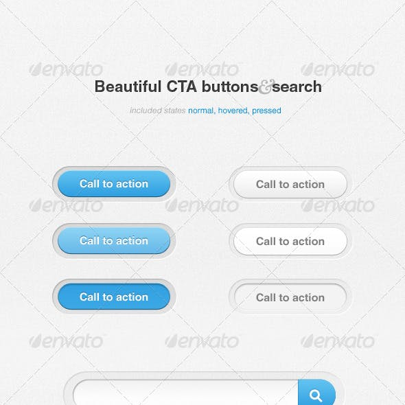 CTA buttons and search
