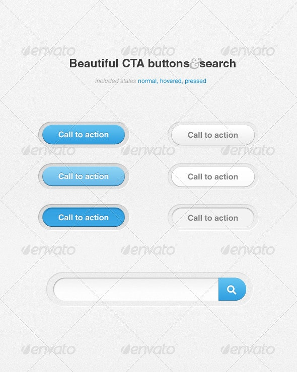 CTA buttons and search - Buttons Web Elements