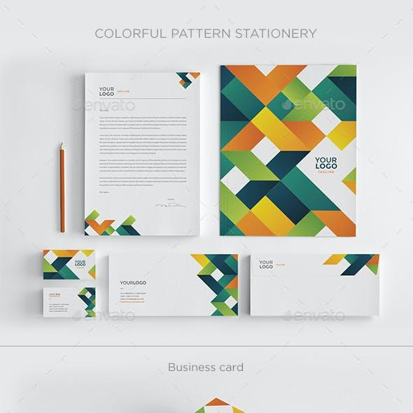 Colorful Pattern Stationery
