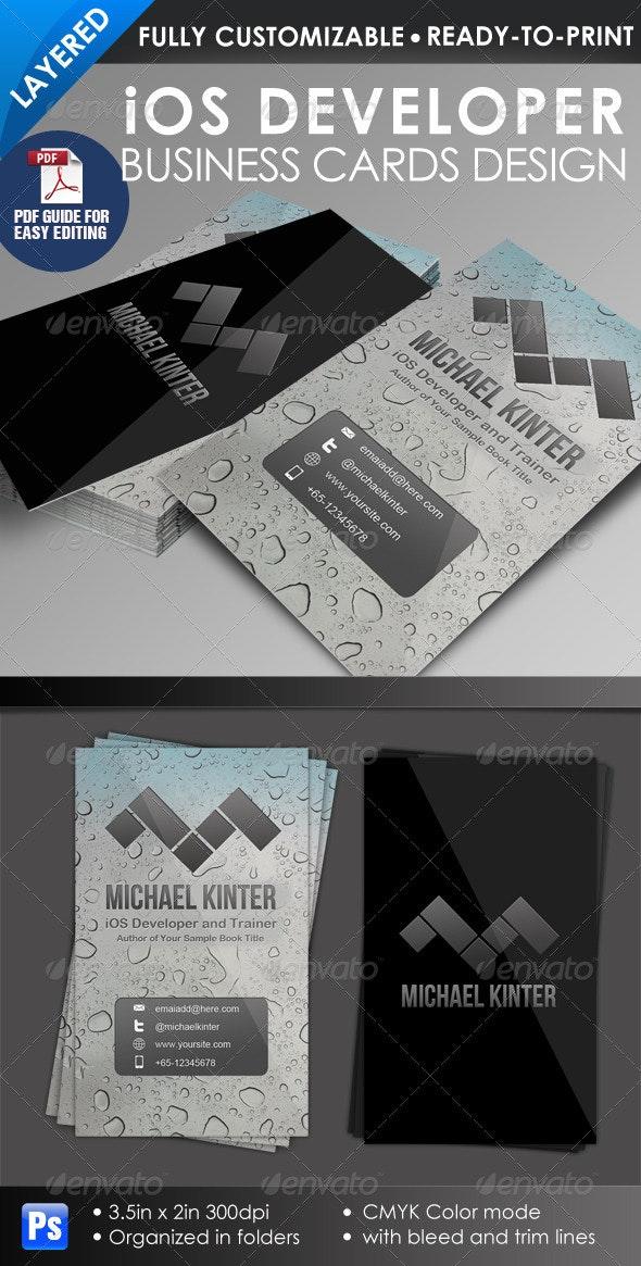 iOS Developer Business Card - Creative Business Cards