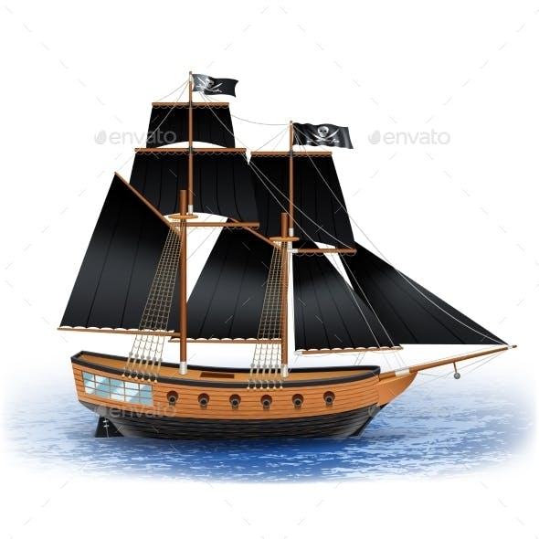 Pirate Ship Illustration