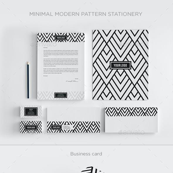Minimal Modern Pattern Stationery