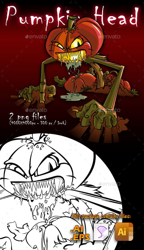 Pumpkin Head - Halloween Seasons/Holidays