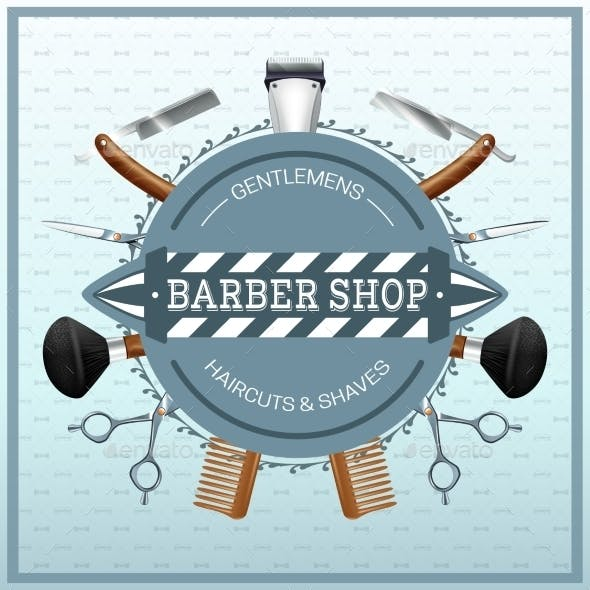 Barber Shop Realistic Concept