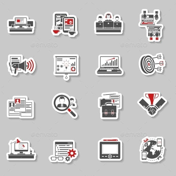 Freelance Concept Stickers Collection
