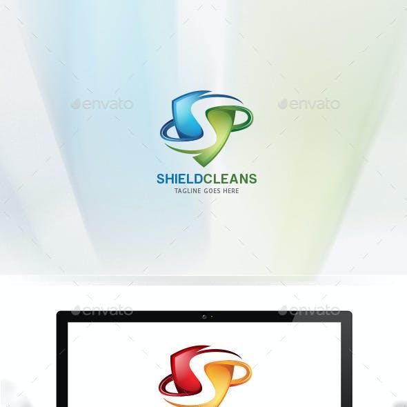 Shield Cleans / Letter S / Logo S / 3D Logo Templates