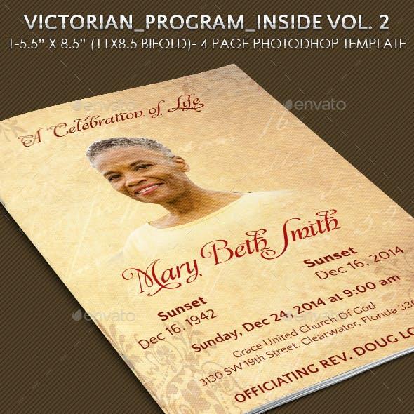 Victorian Funeral Program Vol 2.
