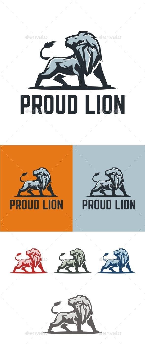 Proud Lion - Animals Logo Templates