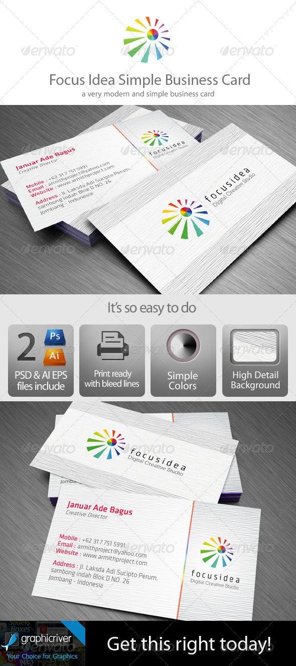 Simple Minimalist Business Card - Corporate Business Cards