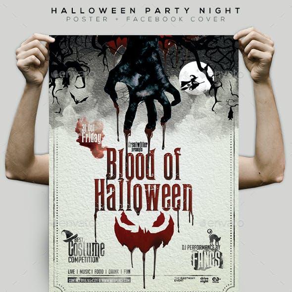 Halloween Night Flyer / Poster / Facebook Cover