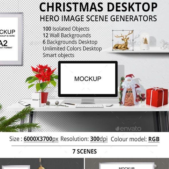 Christmas Desktop Hero Image Scene Generators