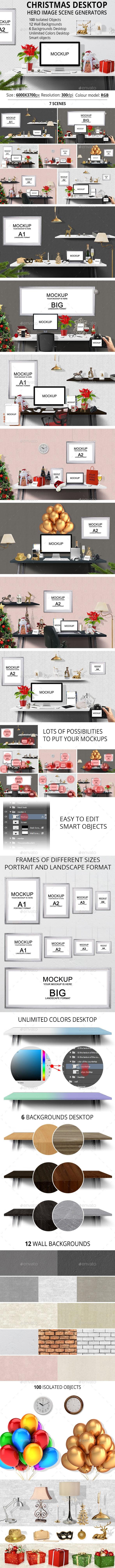 Christmas Desktop Hero Image Scene Generators - Hero Images Graphics