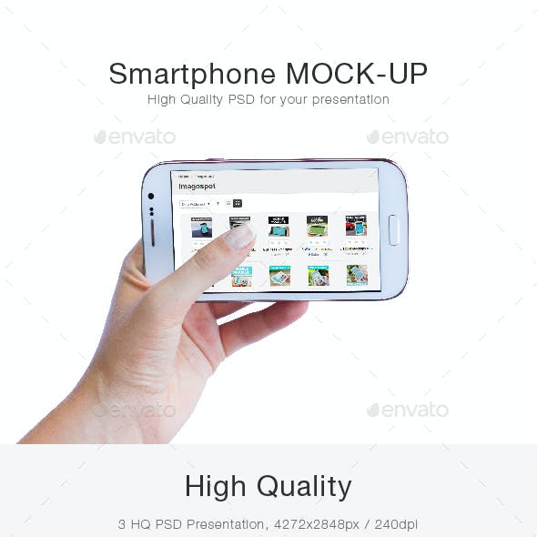 5 Smartphone Mockups with Changeable Background