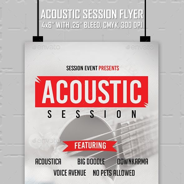 Acoustic Session - Flyer