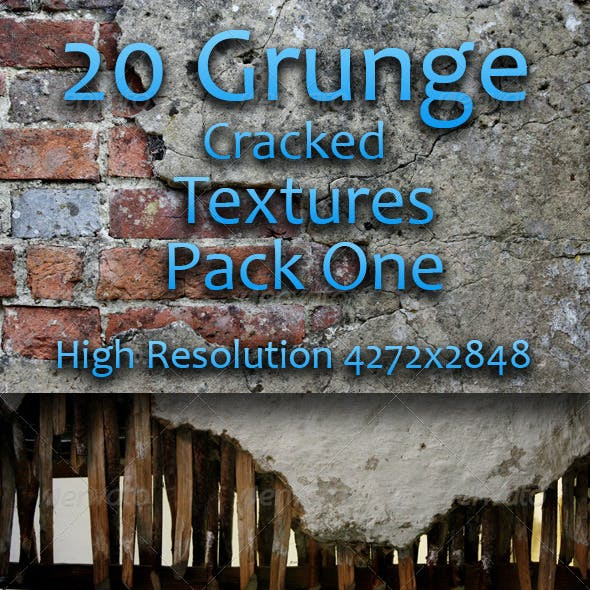 20 Grunge Cracked Textures - Pack One