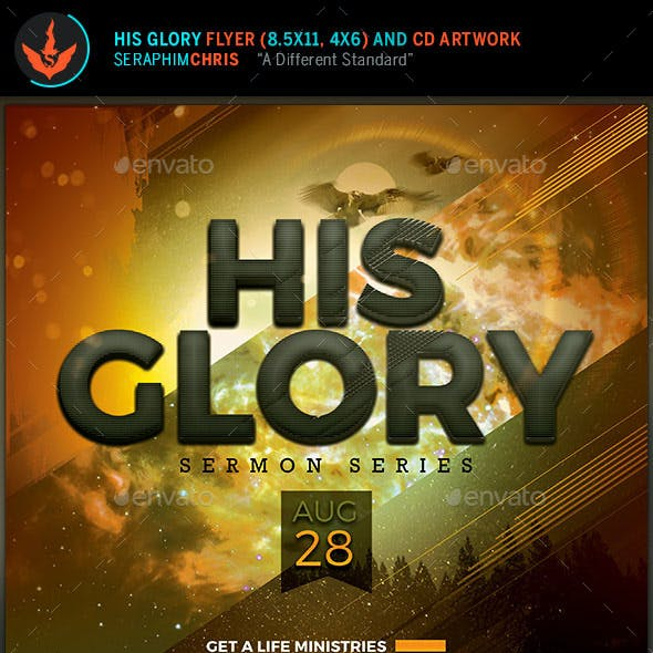 His Glory Flyer and CD Template