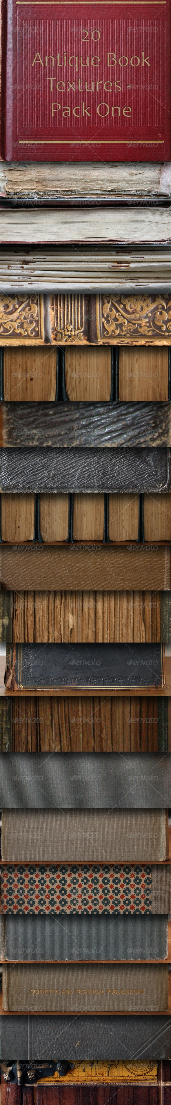 20 Antique Book Textures - Pack One  - Miscellaneous Textures