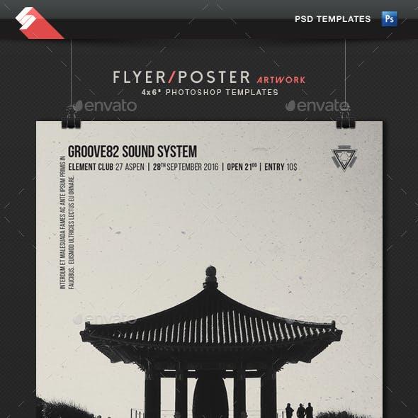 Dubstep - Minimal Poster, Flyer Template