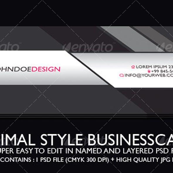 Minimal Style Businesscard
