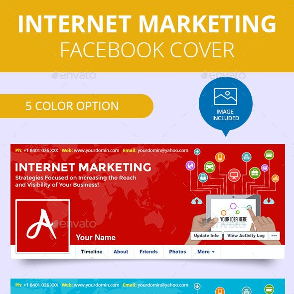 Flat Internet Marketing Facebook Timeline Covers