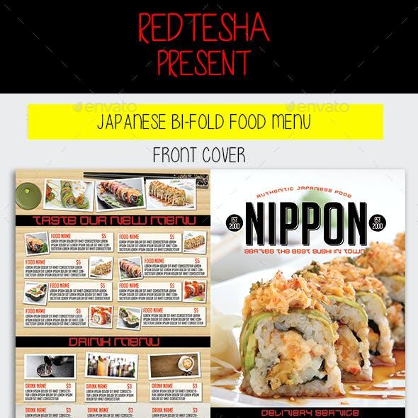 Japanese Bifold Food Menu