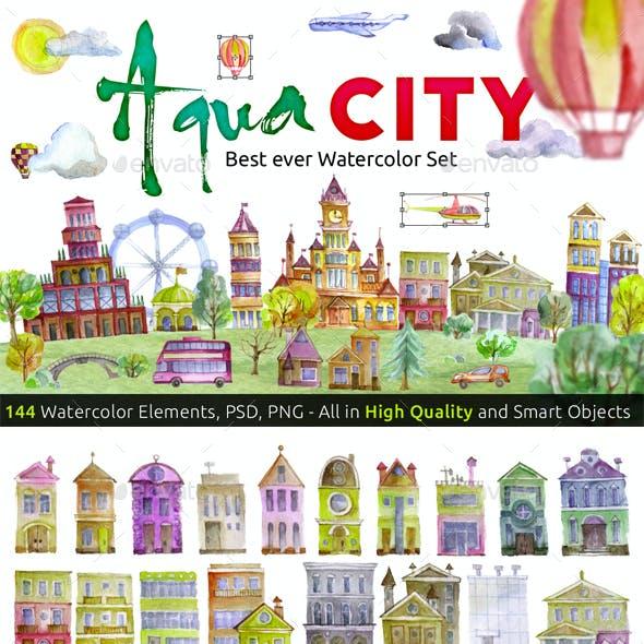 Watercolor set AQUA CITY Constructor