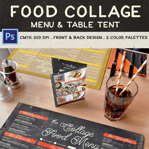 Food Collage Menu by Bluerobindesignshop