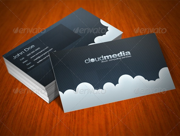 Clouds Card - Creative Business Cards