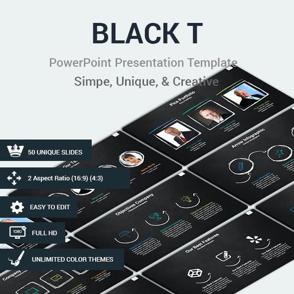 Black T Presentation Template
