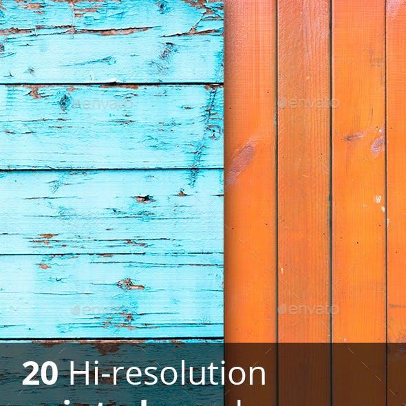 20 hi-res painted wood textures
