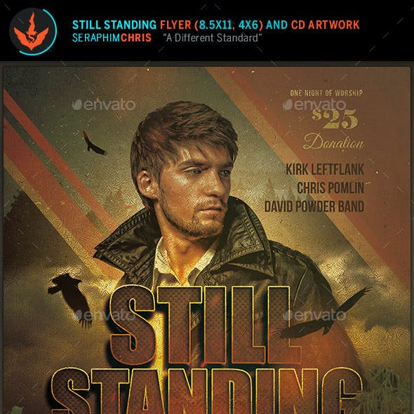 Still Standing Gospel Concert Flyer and CD