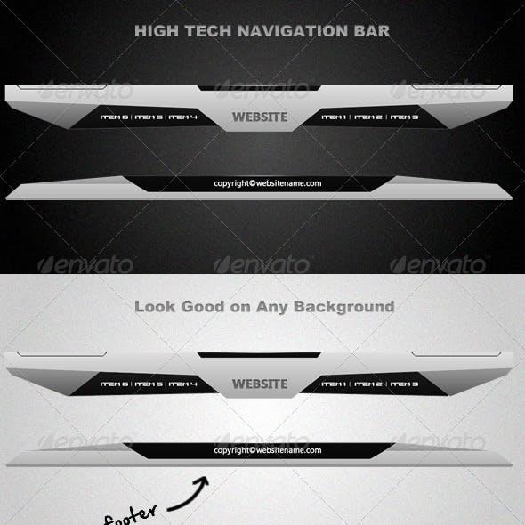 High-Tech Navigation Bar