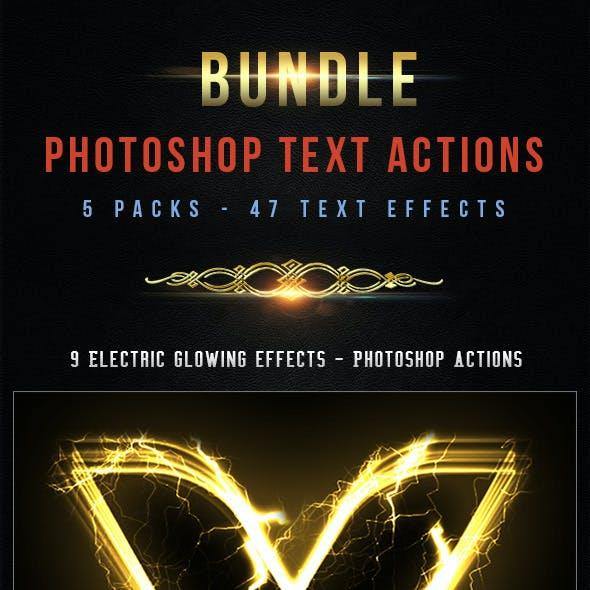 47 Text Photoshop Actions - Bundle 3