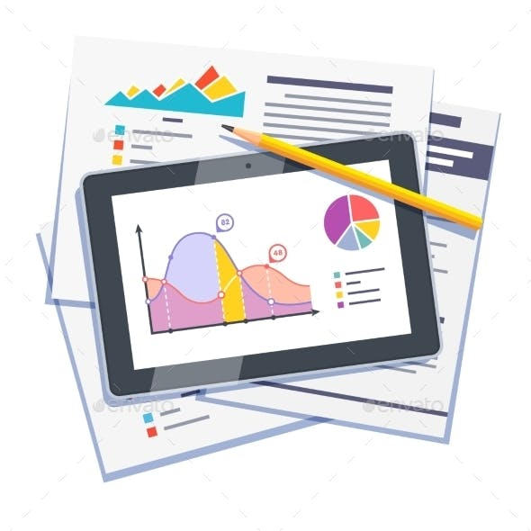 Statistical Data Abstract On Paper And Tablet