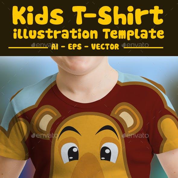 Lion Kids T-Shirt Design