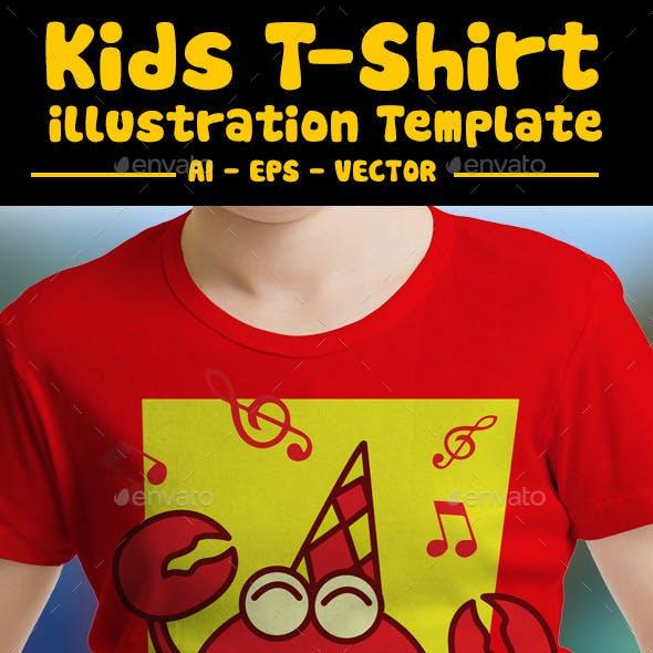 Crab Kids T-Shirt Design
