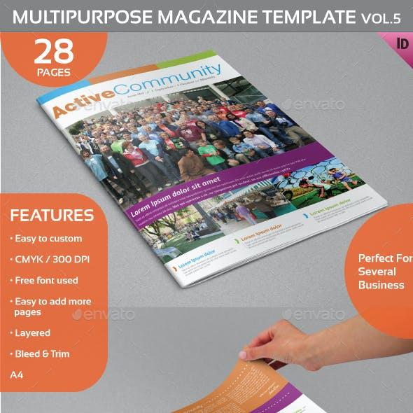 Multipurpose Magazine Template Vol.5