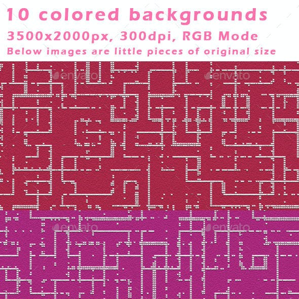 10 Colored - Canvas Dotted Backgrounds